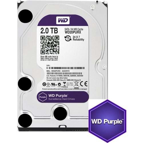 HDD 2 TB 3.5 WD INTELLIPOWER SATA 64MB PURPLE WD20