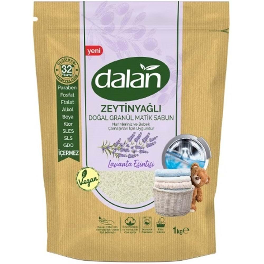 Dalan Doğal Granül Sabun Tozu 1Kg Karma Set 3+3=6Kg Doğal Bebekler İçin Lavanta ve Zeytinyağlı