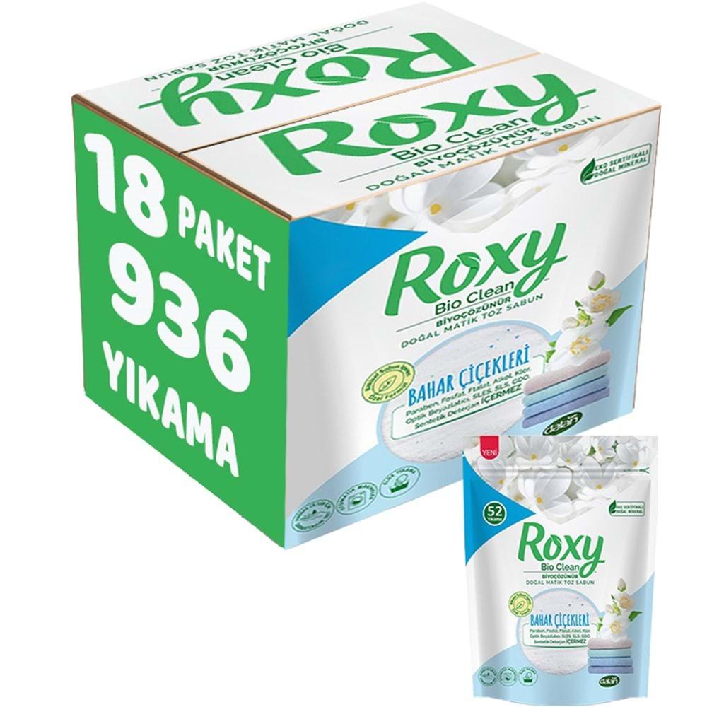 Dalan Roxy Matik Sabun Tozu 2Kg Bahar Çiçekleri 18 Li Set (1188 Yıkama)