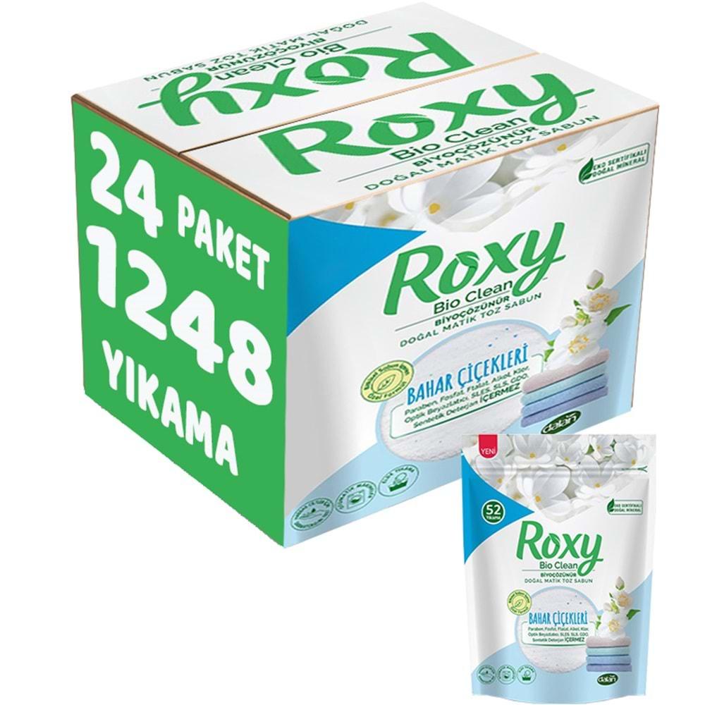 Dalan Roxy Matik Sabun Tozu 2Kg Bahar Çiçekleri 24 Lü Set (1584 Yıkama)