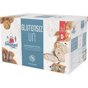 Sinangil Glutensiz Un 5KG (5000GR) Kutu Çölyak Diyetine Uygun