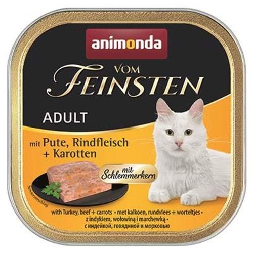 Animonda Vom Feinsten Hindi Sığır Havuçlu Kedi Konservesi 100 gr.