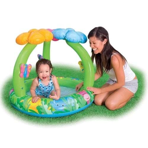 Gölgelikli Çiçekli Bebek Havuzu 102x81cm İntex 57419